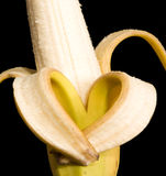Banane de Valentine Images libres de droits