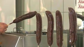 Banane del cioccolato video d archivio