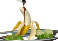 Banane in der Schokolade Lizenzfreies Stockbild