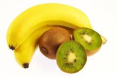 Banane e kiwi fotografia stock libera da diritti