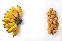 Banane et Langsad Images libres de droits