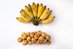 Banane et Langsad Photos libres de droits