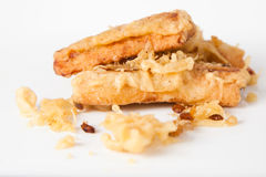 Banane fritte Fotografia Stock Libera da Diritti