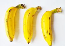 3 banane gialle Fotografia Stock Libera da Diritti