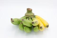 Banane gialle e verdi Fotografie Stock Libere da Diritti