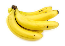 Banane gialle fresche succose Immagini Stock