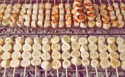 Banane grillte Lizenzfreies Stockbild