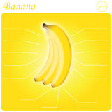 Banane infogram Lizenzfreie Stockfotos