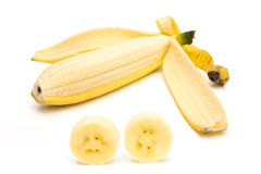 Banane intérieure Images libres de droits