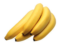 Banane, isolate Fotografia Stock Libera da Diritti