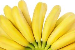 Banane isolate su bianco Immagini Stock