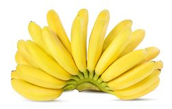 Banane isolate su bianco Fotografie Stock