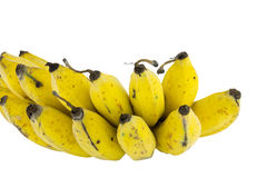 Banane isolate su bianco Fotografia Stock Libera da Diritti
