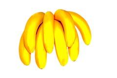 Banane isolate su priorità bassa bianca Immagine Stock