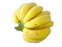 Banane jaune, banane de Cavendish Photo libre de droits