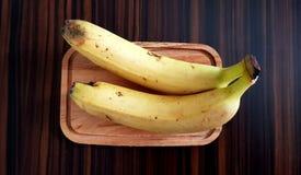 Banane jaune mûre Photographie stock libre de droits