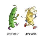 Banane laufen gelassen von der Zombiegurke Yomanbanan laufen von Cucuzomber vektor abbildung