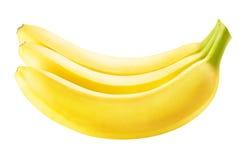 Banane mûre d'isolement sur le fond blanc Photographie stock