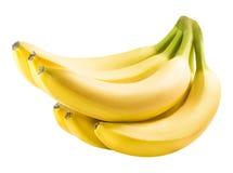 Banane mûre d'isolement sur le fond blanc Photos libres de droits