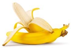 Banane mûre enlevée images libres de droits