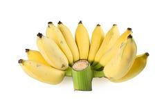 Banane mûre sur le fond blanc Photo libre de droits