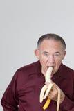Banane mangeuse d'hommes mûre Photo stock
