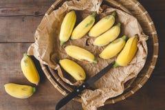 Banane mature fresche Fotografie Stock