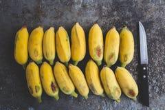 Banane mature fresche Immagine Stock Libera da Diritti