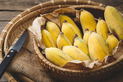 Banane mature fresche Immagini Stock Libere da Diritti