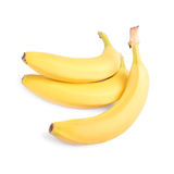 Banane mature, fresche, organiche e nutrienti, isolate su un fondo bianco Frutta dolce delle banane Vitamine Frutta tropicale Fotografia Stock