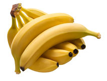 Banane mature organiche Fotografia Stock Libera da Diritti
