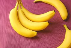 Banane mature saporite Fotografia Stock Libera da Diritti