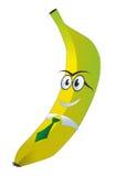 Banane mit Gläsern und einer Bindung lizenzfreie abbildung