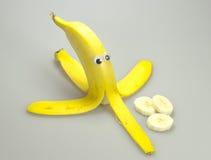 Banane mit komischen Augen Lizenzfreie Stockfotos