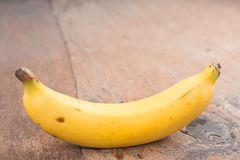 Banane mit Milch Stockfotografie