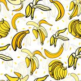 Banane-modèle lumineux et coloré Photographie stock libre de droits