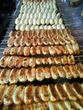 Banane-pain grillé Photo libre de droits