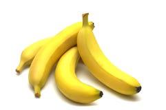 Banane quatre Photos libres de droits