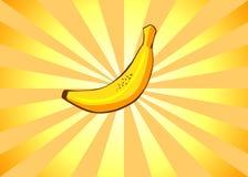Banane radiante Images libres de droits