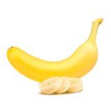 Banane Reife Bananen auf einem weißen Hintergrund Stockbild