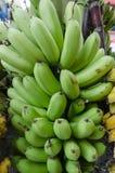 Banane, rohe Banane gegessen als köstliches Gemüse stockfotos