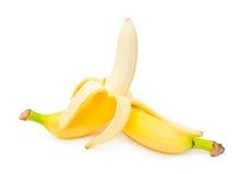 Banane sbucciate mature fotografia stock libera da diritti
