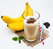 Banane Smoothie Lizenzfreies Stockbild