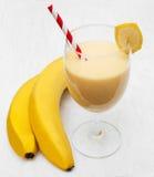 Banane Smoothie Lizenzfreies Stockfoto