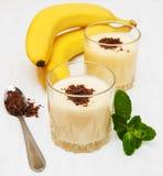 Banane Smoothie Stockbild