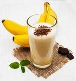 Banane Smoothie lizenzfreie stockfotografie
