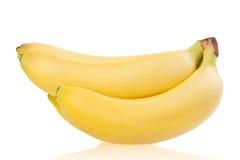 Banane su fondo bianco Immagine Stock