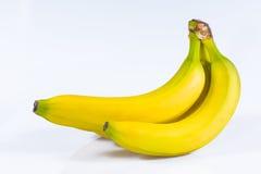Banane su fondo bianco Immagini Stock