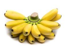 Banane su fondo bianco Immagine Stock Libera da Diritti