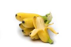 Banane su fondo bianco Fotografia Stock Libera da Diritti
